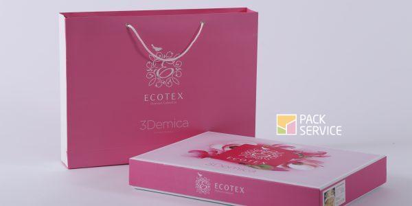Коробка крышка-дно + подарочный пакет