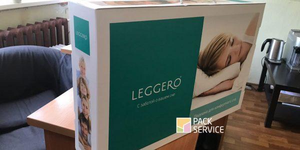 Самосборная коробка для ортопедических подушек микрогофрокартон